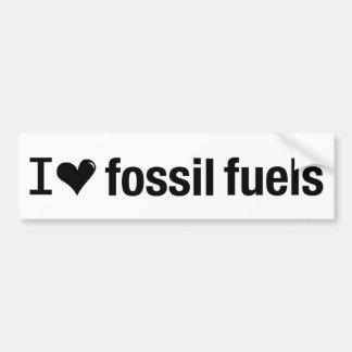 私は化石燃料のバンパーステッカーを愛します バンパーステッカー
