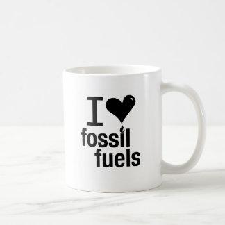 私は化石燃料のマグを愛します コーヒーマグカップ