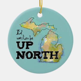 私は北のミシガン州の上にむしろあります セラミックオーナメント