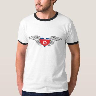私は北朝鮮-翼--を愛します Tシャツ