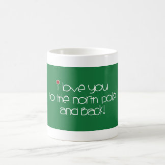 私は北極および背部マグに愛します コーヒーマグカップ