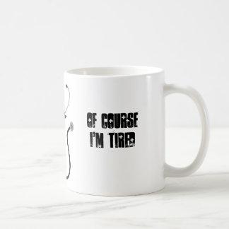 私は医学生です。 当然私は疲れています コーヒーマグカップ