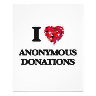 私は匿名の寄付を愛します 11.4CM X 14.2CM チラシ