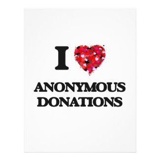 私は匿名の寄付を愛します 21.6CM X 27.9CM チラシ
