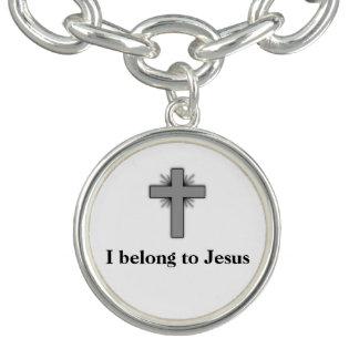 私は十字が付いているイエス・キリストのチャームブレスレットに属します チャームブレス