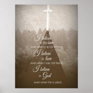 私は十字を信じます ポスター