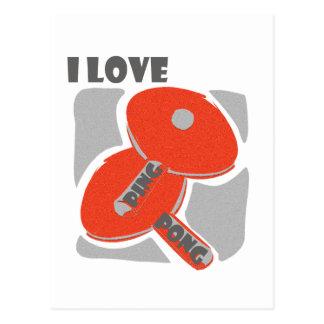 私は卓球の野生の赤いかいを愛します ポストカード