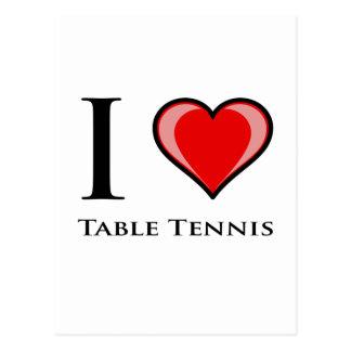 私は卓球を愛します ポストカード