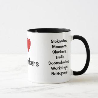 私は協力者の失礼な名前の侮辱およびタイトルを愛します マグカップ
