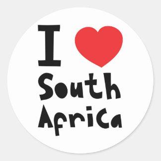 私は南アフリカ共和国を愛します ラウンドシール