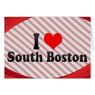 私は南ボストン、米国を愛します カード