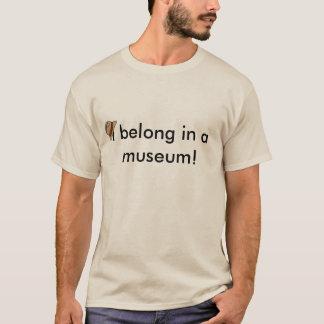 私は博物館で属します Tシャツ
