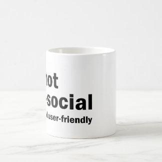 私は反社会的ではないです-私はどうしてもユーザーフレンドリーではないです コーヒーマグカップ