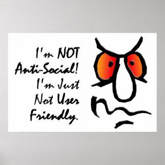 私は反社会的ではない(2)才ではないです ポスター