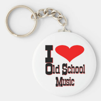 私は古い学校音楽を愛します キーホルダー