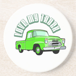 私は古い私のトラック-クラシックな緑の積み込み--を愛します コースター