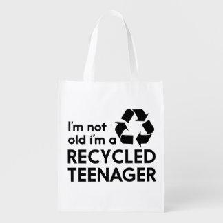 私は古くないです、私ですリサイクルされた10代の若者 エコバッグ