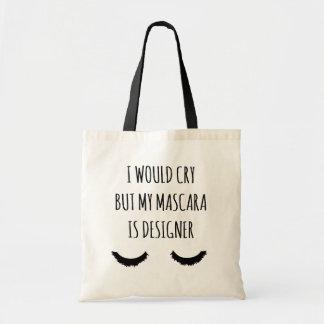 私は叫びますが、私のマスカラはデザイナーおもしろいなトートです トートバッグ