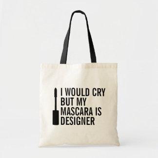 私は叫びますが、私のマスカラはデザイナーおもしろいな戦闘状況表示板です トートバッグ