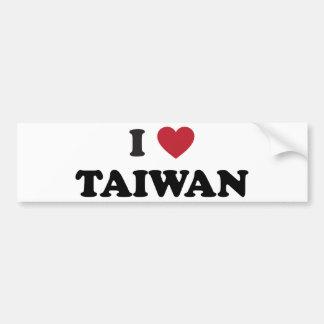 私は台湾を愛します バンパーステッカー