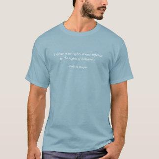 私は右に競争の目上の人の権利の知っていません Tシャツ