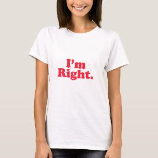 私は右のオリジナルです Tシャツ