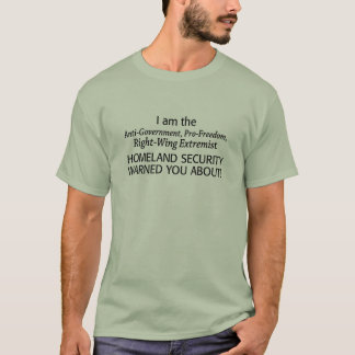 私は右翼の極端家です!! Tシャツ