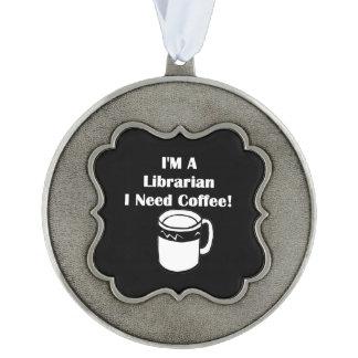 私は司書、私必要としますコーヒーをです! オーナメント