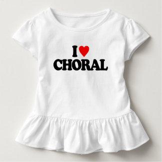 私は合唱曲を愛します トドラーTシャツ