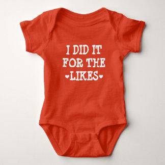 私は同類のためのそれを-インターネットの赤ん坊の有名人しました ベビーボディスーツ