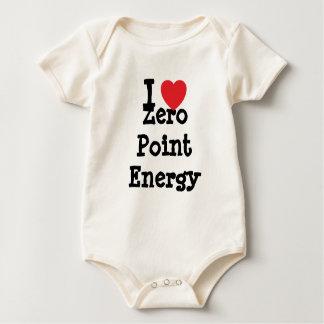 私は名前入りなゼロポイントエネルギーハートのカスタムを愛します ベビーボディスーツ