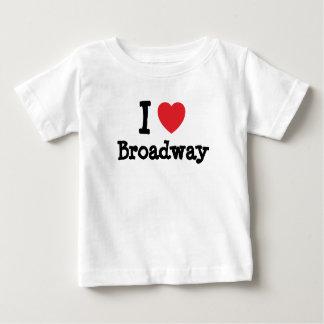 私は名前入りなブロードウェイのハートのカスタムを愛します ベビーTシャツ