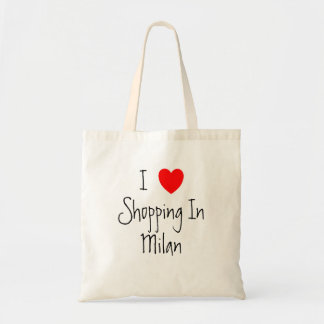 私は名前入りなミラノで買物をすることを愛します トートバッグ