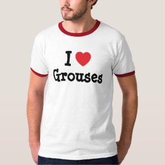 私は名前入りなライチョウのハートのカスタムを愛します Tシャツ