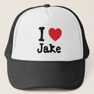 私は名前入りなJakeのハートのカスタムを愛します キャップ