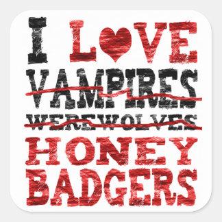 私は吸血鬼の狼人間のラーテルを愛します スクエアシール