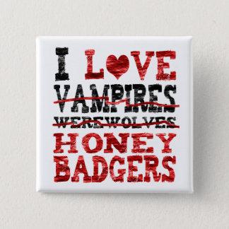 私は吸血鬼の狼人間のラーテルを愛します 5.1CM 正方形バッジ