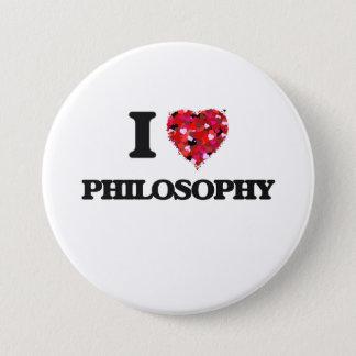 私は哲学を愛します 7.6CM 丸型バッジ
