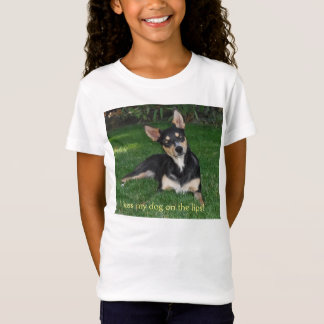私は唇の私の犬に接吻します! Tシャツ