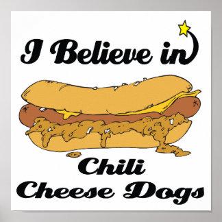 私は唐辛子のチーズ犬で信じます ポスター