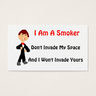 私は喫煙者です 名刺