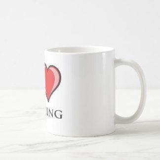 私は囲うことを愛します コーヒーマグカップ