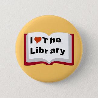 私は図書館を愛します 5.7CM 丸型バッジ