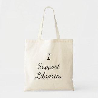 私は図書館を支えます! トートバック トートバッグ
