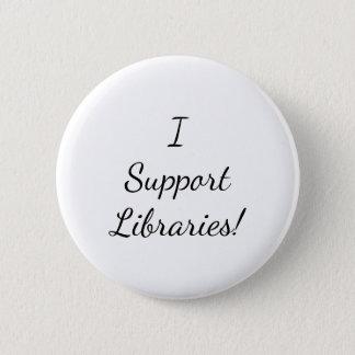 私は図書館を支えます! ボタン 5.7CM 丸型バッジ