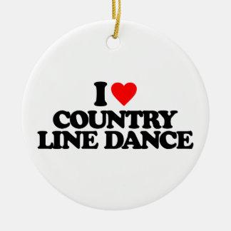 私は国のラインダンス愛します セラミックオーナメント