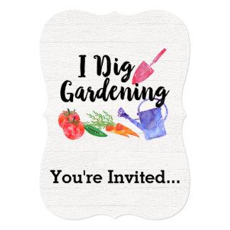 私は園芸かわいい庭のギフトの庭師を掘ります カード