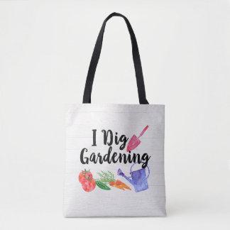 私は園芸かわいい庭のギフトの庭師を掘ります トートバッグ