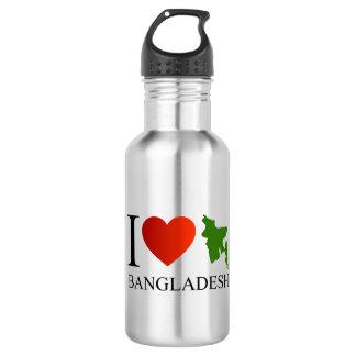 私は地図が付いているバングラデシュを愛します ウォーターボトル