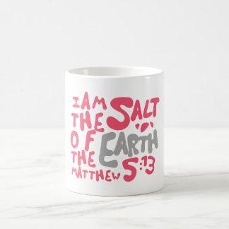 私は地球の塩-ピンクまたは灰色です コーヒーマグカップ